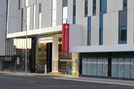 Calvary Adelaide 24 Hour Emergency Department Entrance
